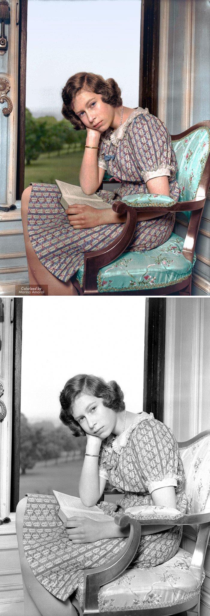 Елизавета II история, портрет, прошлое, событие, фотография, фотомир, цвет