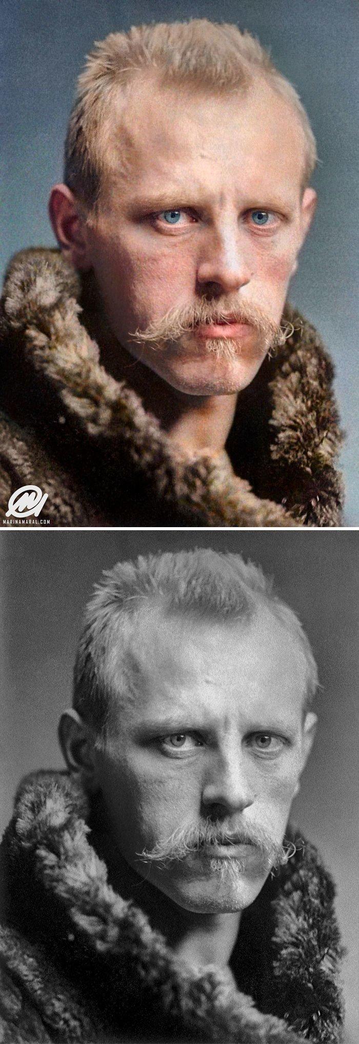 Фритьоф Нансен история, портрет, прошлое, событие, фотография, фотомир, цвет