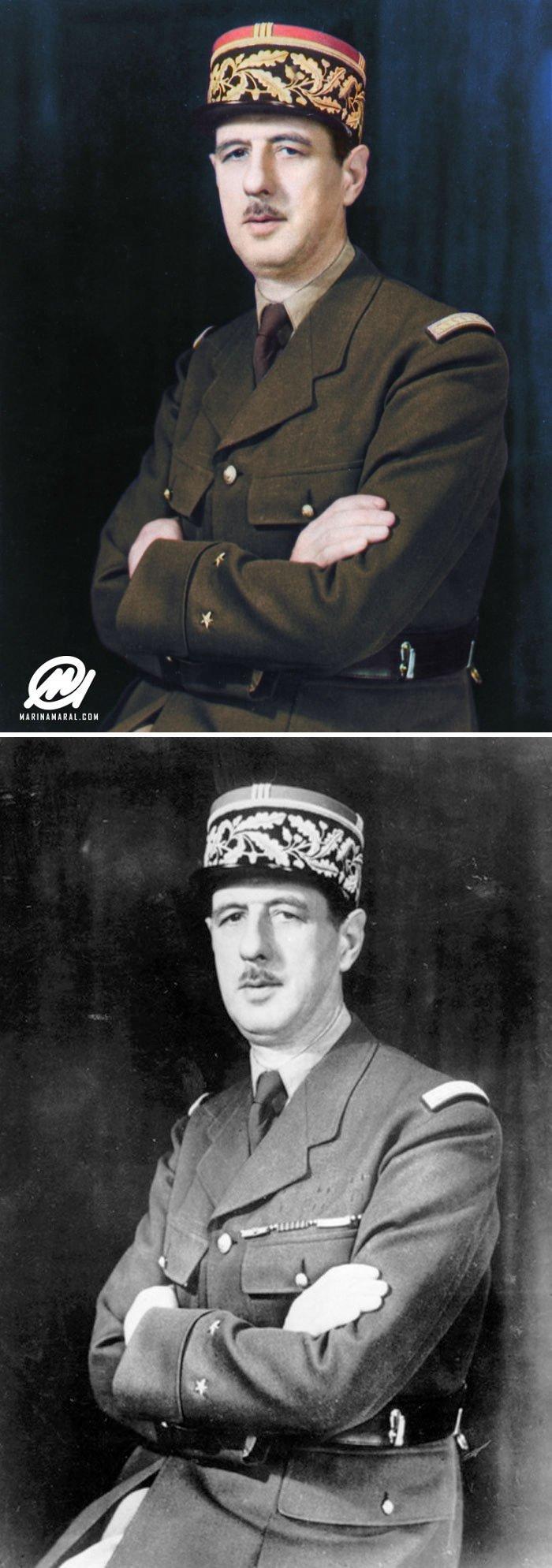 Шарль де Голль история, портрет, прошлое, событие, фотография, фотомир, цвет