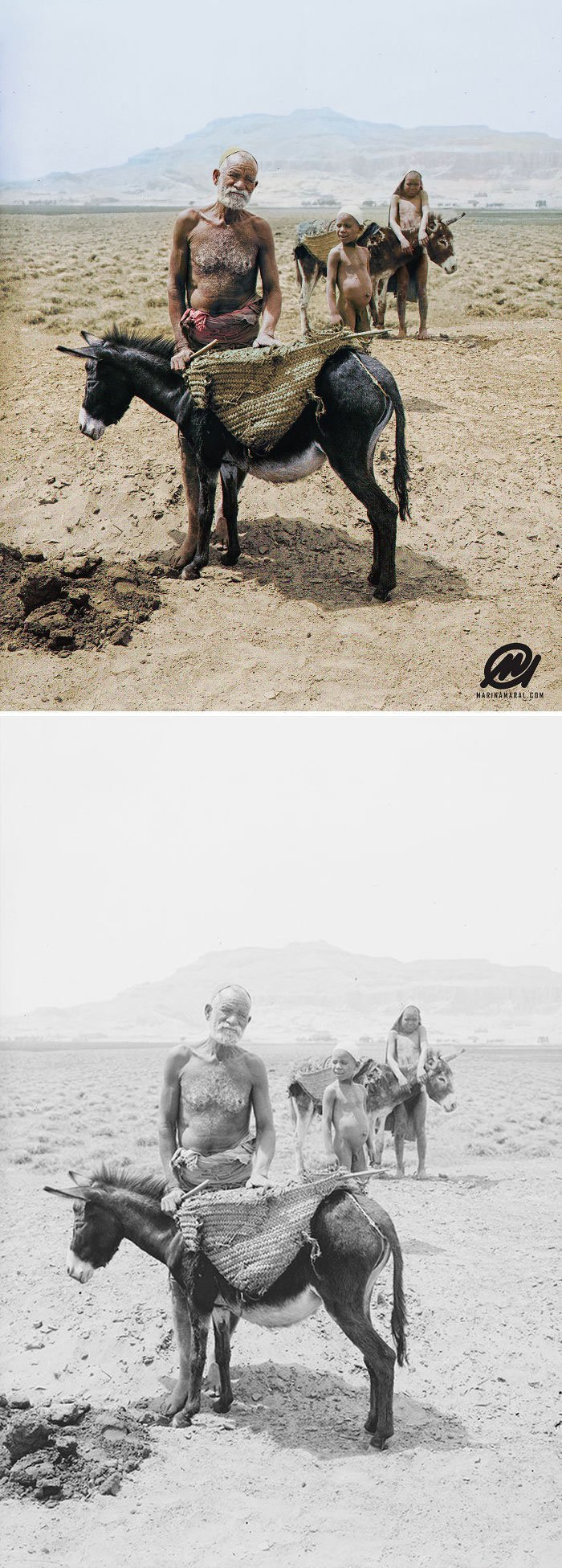 Крестьяне, Египет, 1900-е история, портрет, прошлое, событие, фотография, фотомир, цвет