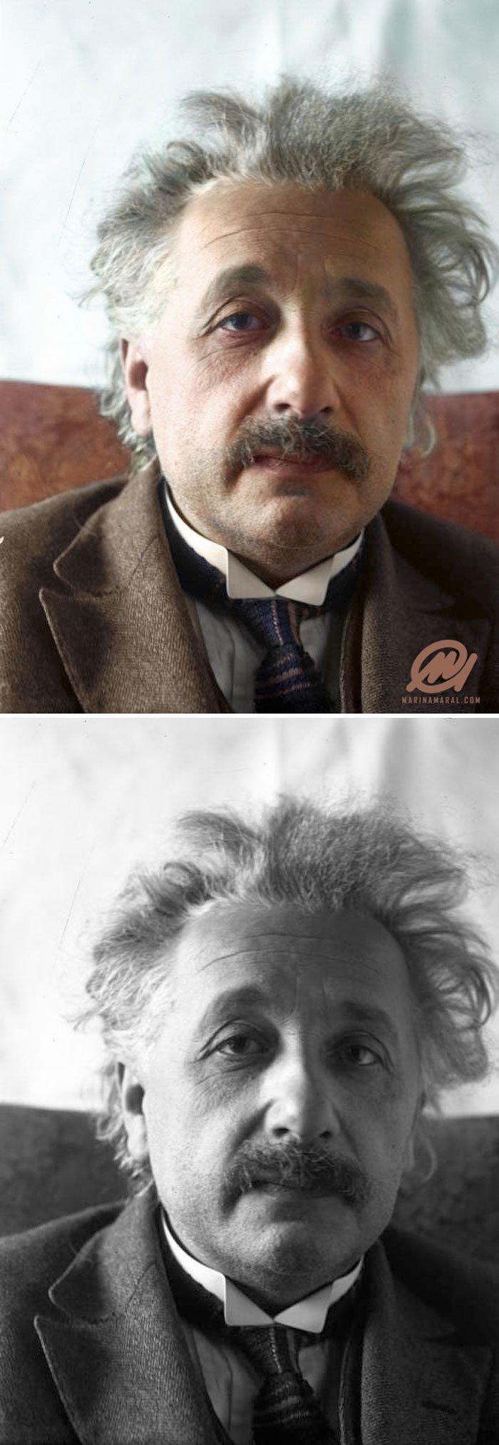 Альберт Эйнштейн, 1 марта 1921 года история, портрет, прошлое, событие, фотография, фотомир, цвет