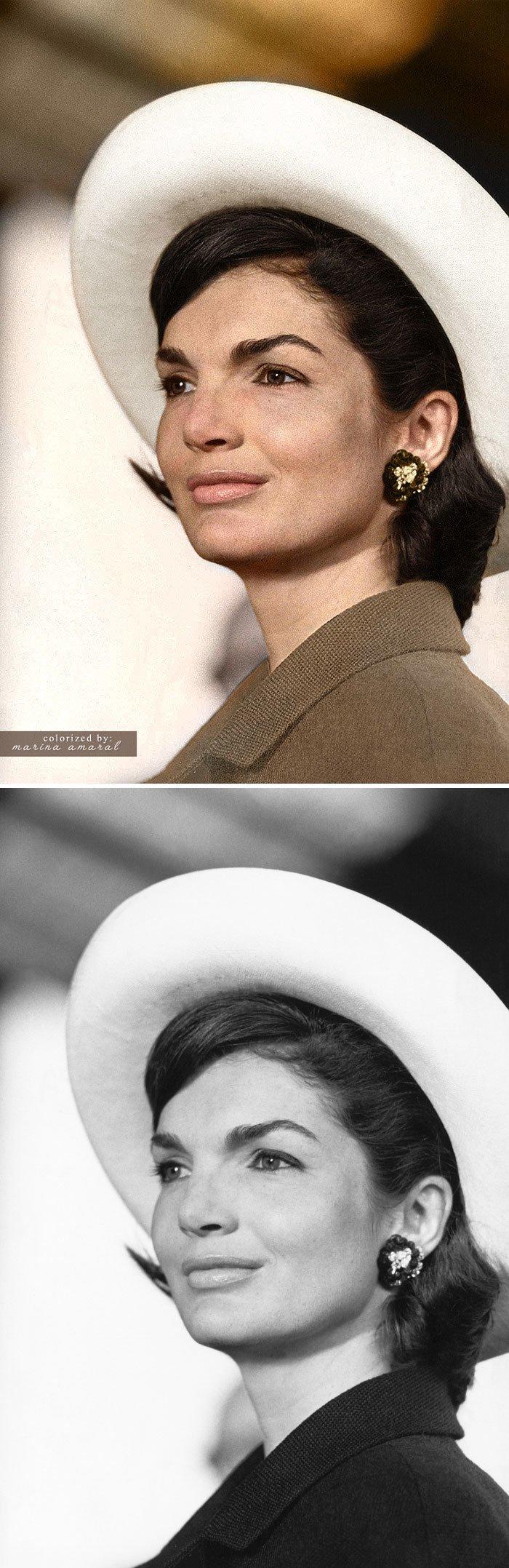Жаклин Кеннеди история, портрет, прошлое, событие, фотография, фотомир, цвет
