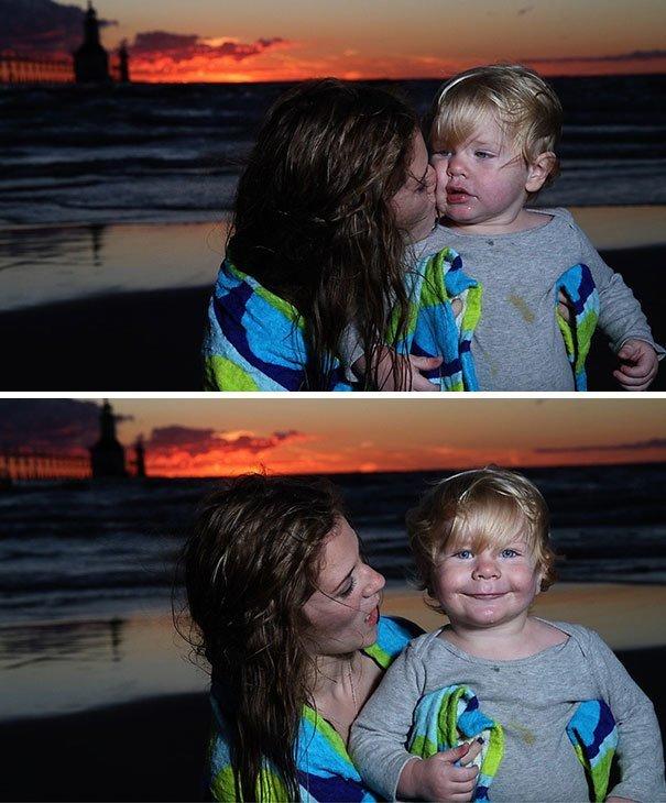 5. Когда поцеловала незнакомка  малыш, обаяние, очарование, подборка, ребенок, фотография