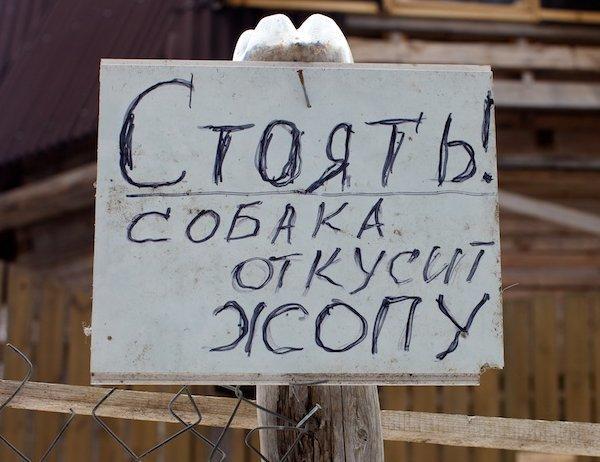 9. Объявление, которое стоит прочитать, прежде чем заходить во двор. Народная смекалка, Это Россия детка, надписи, объявление, смех, умельцы