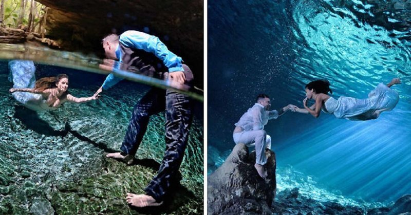Фотограф снимает водный мир любви Любовь, влюбленные, вода, водный мир, красота, романтика, фото, фотограф