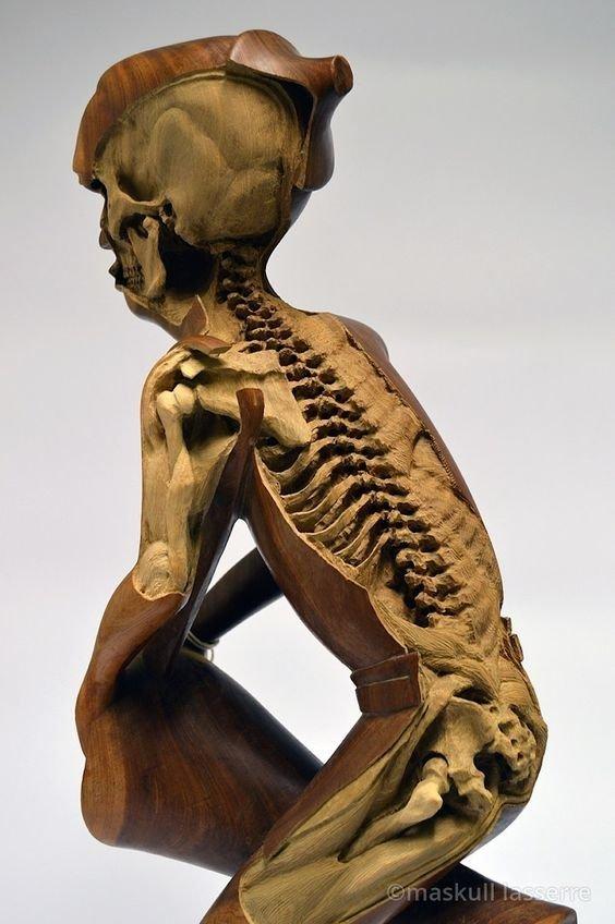 Работы Маскалла Лассера Скульптуры, дерево, интересное, искусство, красота, резьба, талант