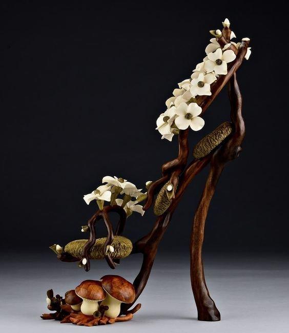 Деревянное искусство в которое сложно поверить Скульптуры, дерево, интересное, искусство, красота, резьба, талант