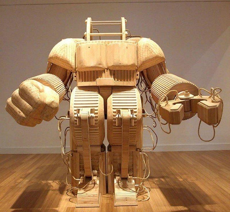 Работы Майкла Ри.  Очень уж он любит фантастику и приключения Скульптуры, дерево, интересное, искусство, красота, резьба, талант