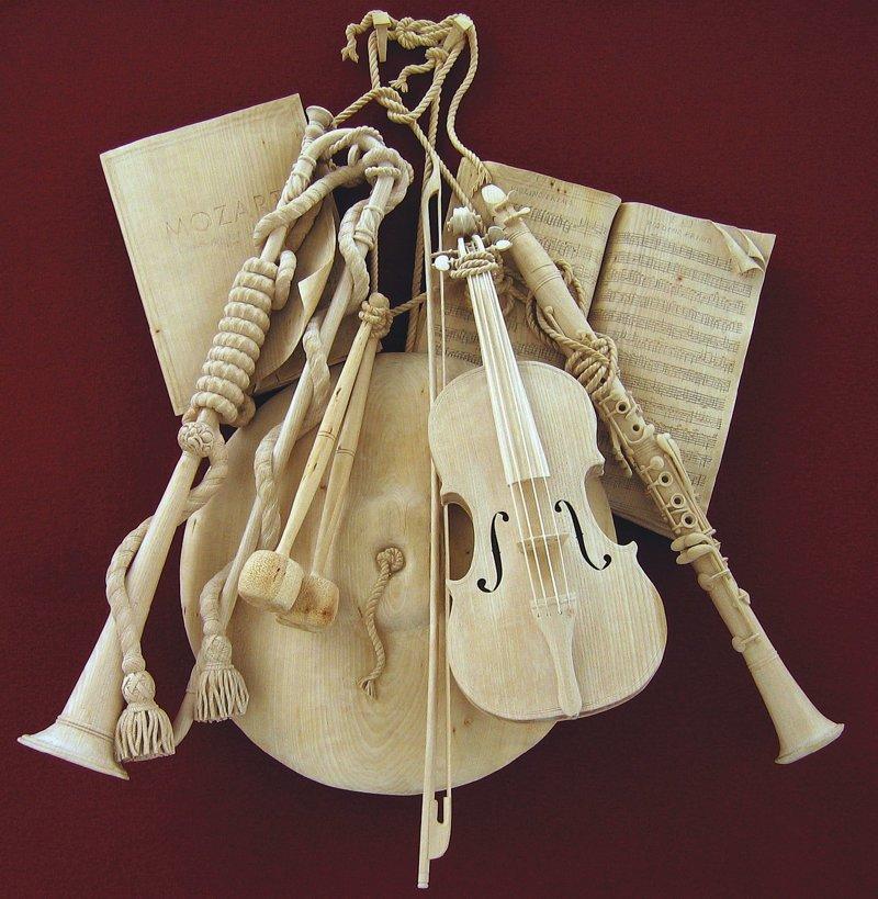 Дэвид Эстерли Скульптуры, дерево, интересное, искусство, красота, резьба, талант