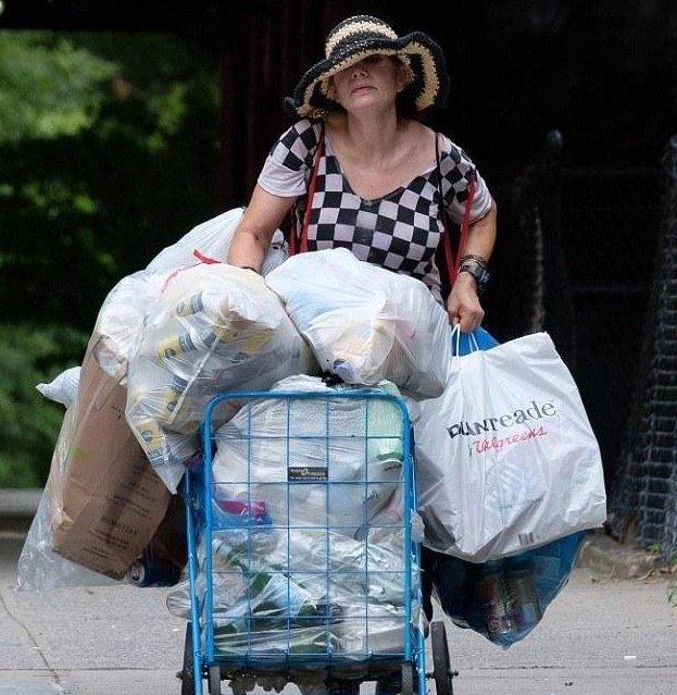 Эксцентризм или маразм? Жительница Нью Йорка, владея миллионами долларов, собирает хлам по округе в мире, история, люди, мусор, хлам