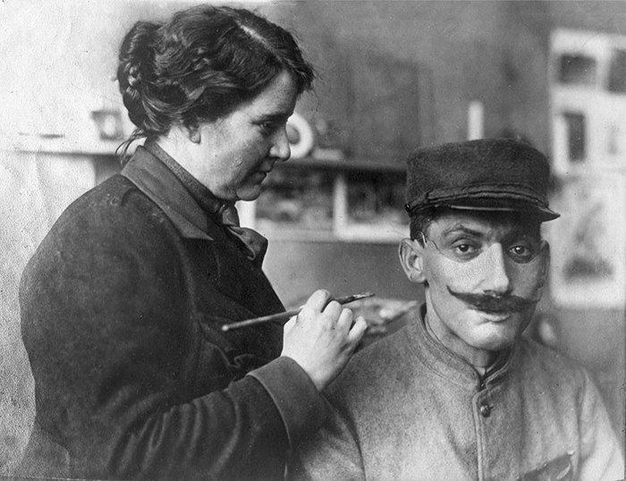 Анна Коулман Уоттс Лэдд - американский скульптор, чья работа изменила жизни многих людей история, маска, маска для лица, первая мировая война, протез, ранения, скульптор, травмы