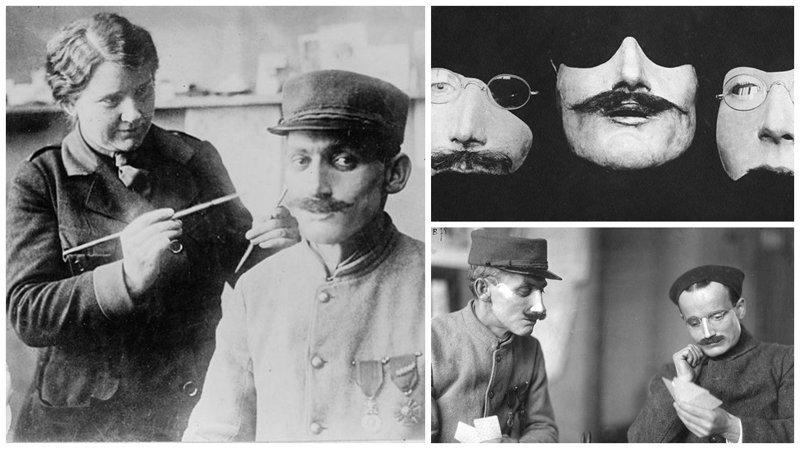 Скульптор Анна Лэдд: протезные маски для солдат Первой мировой история, маска, маска для лица, первая мировая война, протез, ранения, скульптор, травмы