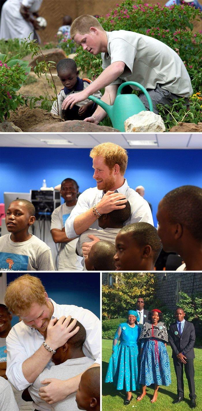 13. Принц Гарри пригласил на свою свадьбу сироту, с которым он встретился 14 лет назад в Африке Любовь, жизнь, позитив, самопожертвование, фото, человечность