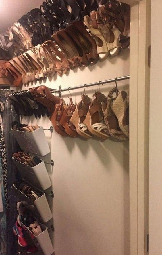 10. Вариантов целая куча  маленькая квартира, обувь, способы хранения, фото, хранение, шкаф