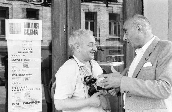 Советские знаменитости в неформальной обстановке