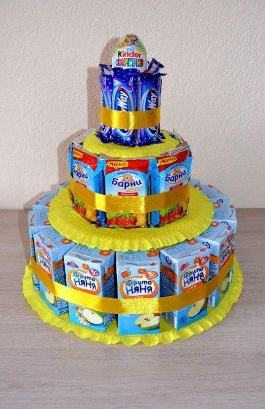 4. Не забывайте, что торт может быть не только из бисквита вкусно, десерты, идеи, интересно, красиво, полезные идеи, торты, фото