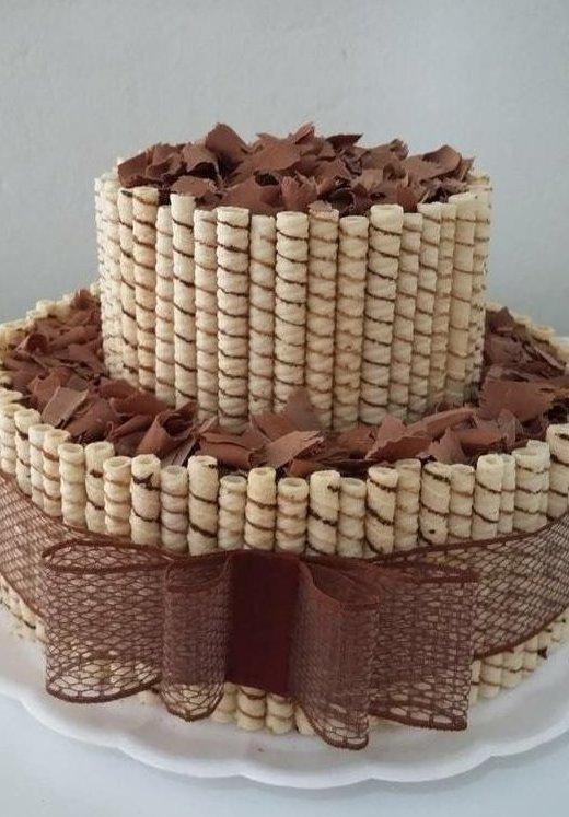 10. А как насчет любимых шоколадных трубочек? вкусно, десерты, идеи, интересно, красиво, полезные идеи, торты, фото
