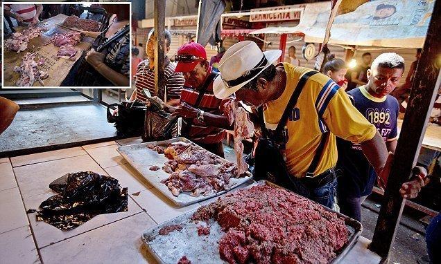 Жители Венесуэлы едят гнилое мясо ynews, венесуэла, кризис, рецессия, тухлятина, экономика дефолт, экономический кризис, южная америка