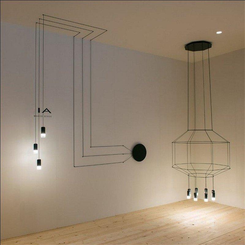 переплетение проводов Фабрика идей, дизайнеры, освещение, свет