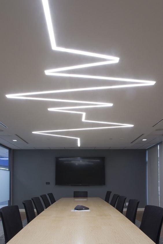 Зигзагообразно Фабрика идей, дизайнеры, освещение, свет