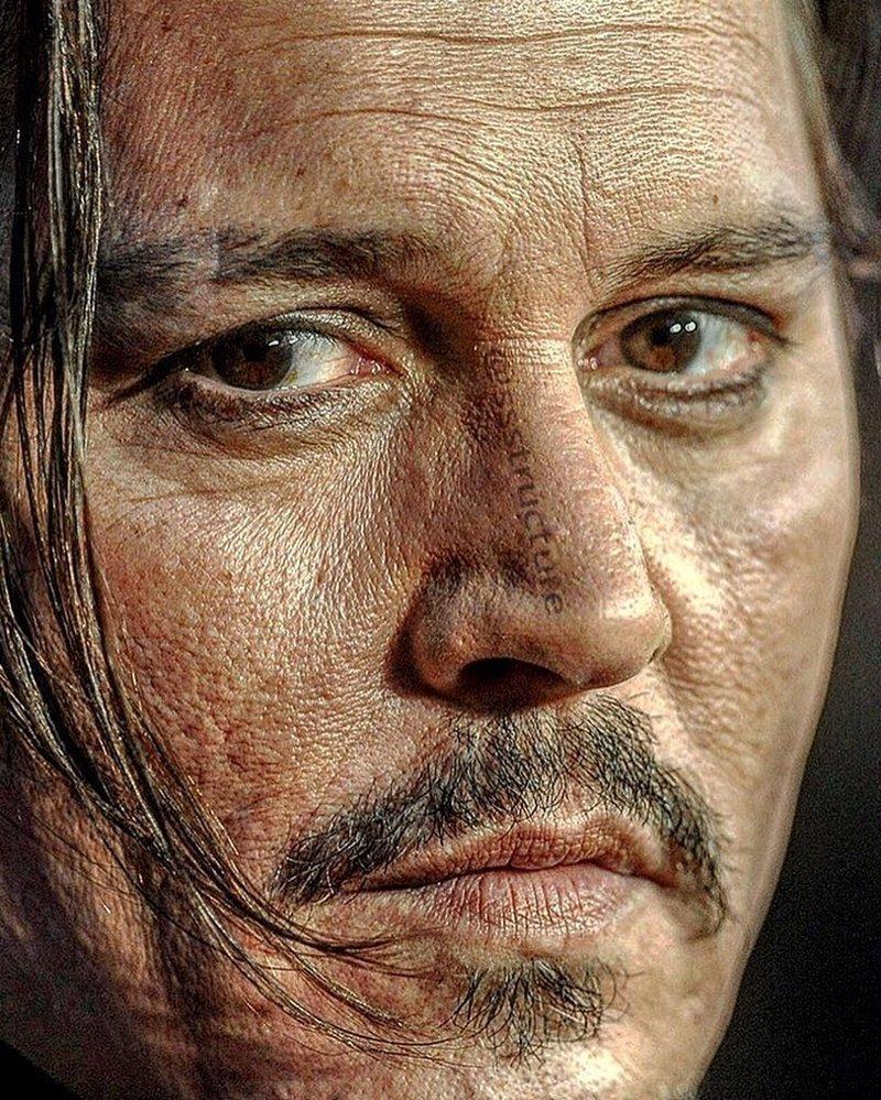 18. Джонни Депп без макияжа, без фотошопа, звезды вблизи, знаменитости, фото вблизи