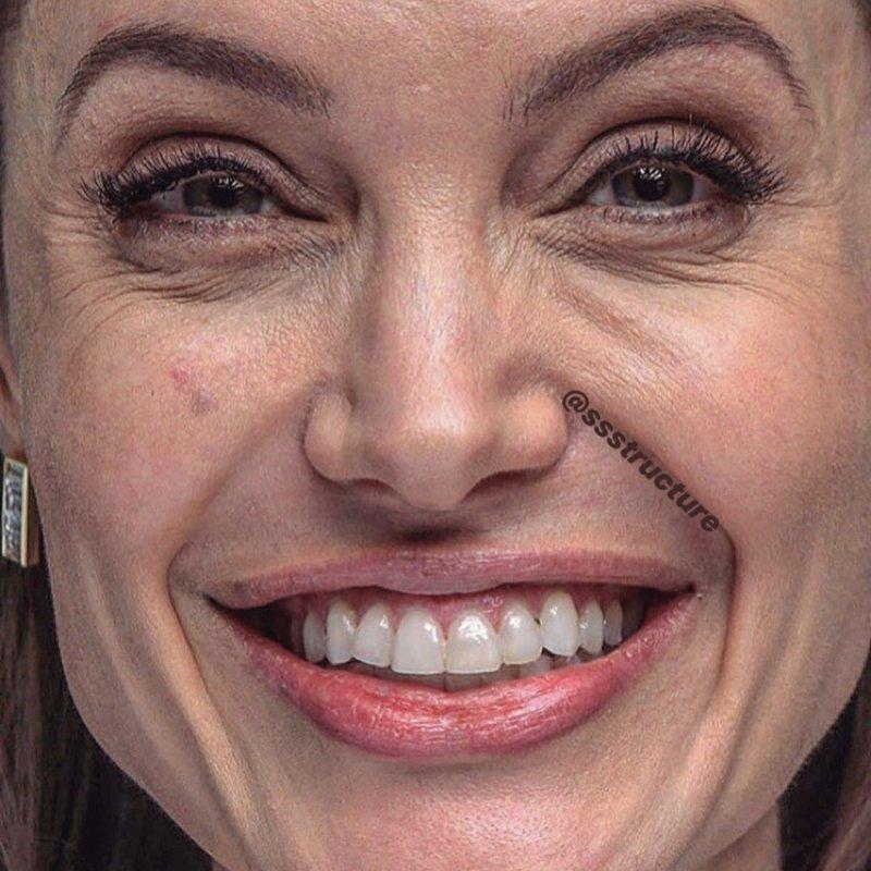 10. Анджелина Джоли без макияжа, без фотошопа, звезды вблизи, знаменитости, фото вблизи