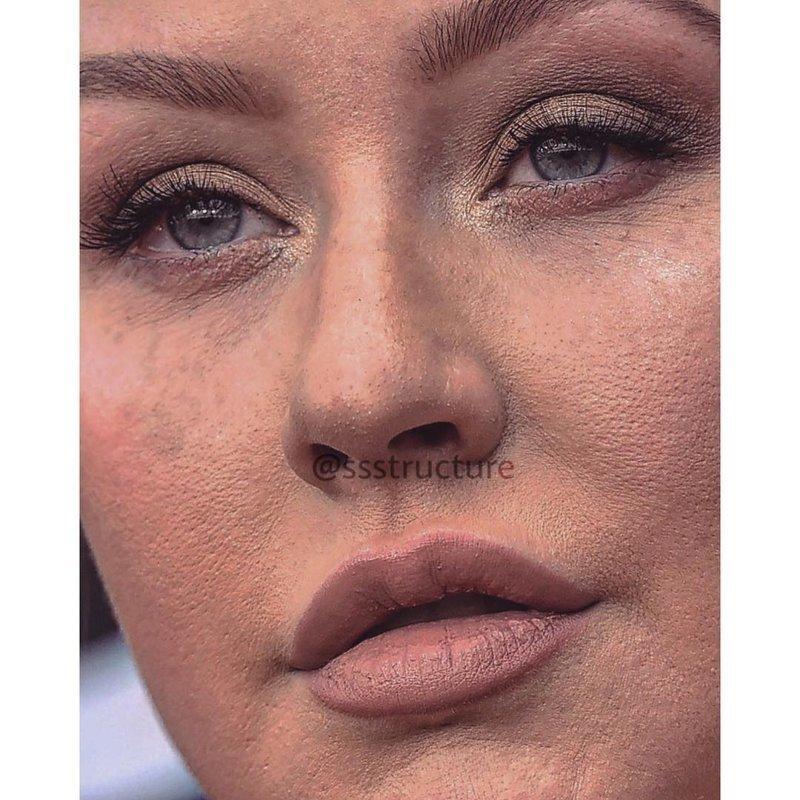 9. Кристина Агилера без макияжа, без фотошопа, звезды вблизи, знаменитости, фото вблизи