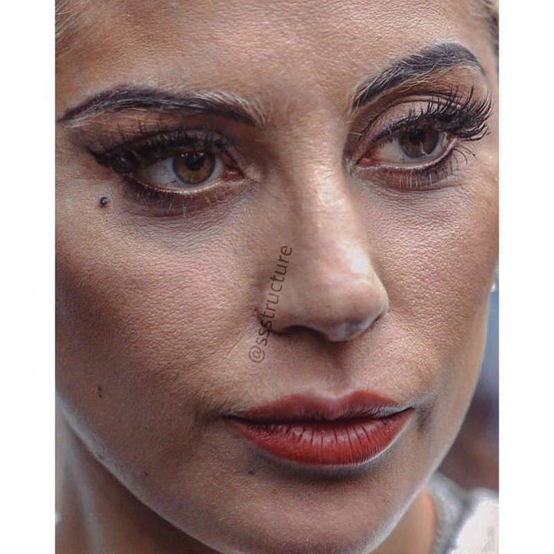 2. Леди Гага без макияжа, без фотошопа, звезды вблизи, знаменитости, фото вблизи