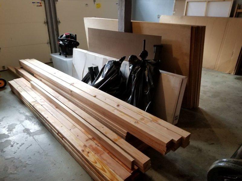 Пиломатериал размером 2,5 м, 3 м, 4 м и фанерные листы для обшивки и шкафов гостиная, дом, зонирование, кабинет, рабочее место, своими руками, сделай сам