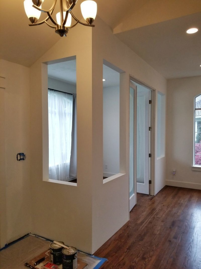 Два слоя белой краски гостиная, дом, зонирование, кабинет, рабочее место, своими руками, сделай сам
