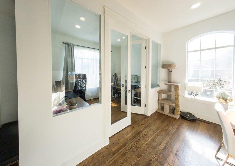 Своими руками: создание кабинета в гостиной гостиная, дом, зонирование, кабинет, рабочее место, своими руками, сделай сам