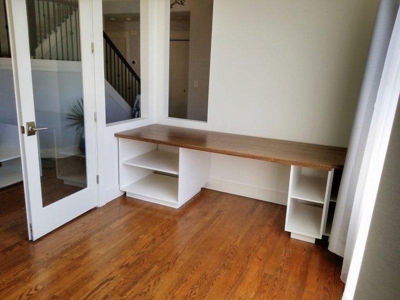 Стол готов гостиная, дом, зонирование, кабинет, рабочее место, своими руками, сделай сам