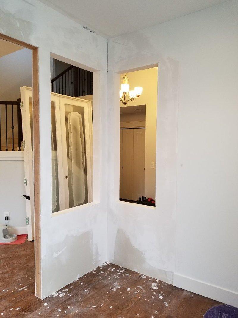 Установка двери гостиная, дом, зонирование, кабинет, рабочее место, своими руками, сделай сам