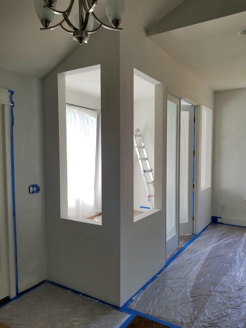 Подготовка к окрашиванию стен гостиная, дом, зонирование, кабинет, рабочее место, своими руками, сделай сам