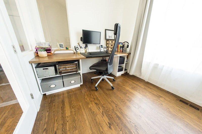Стол жены гостиная, дом, зонирование, кабинет, рабочее место, своими руками, сделай сам