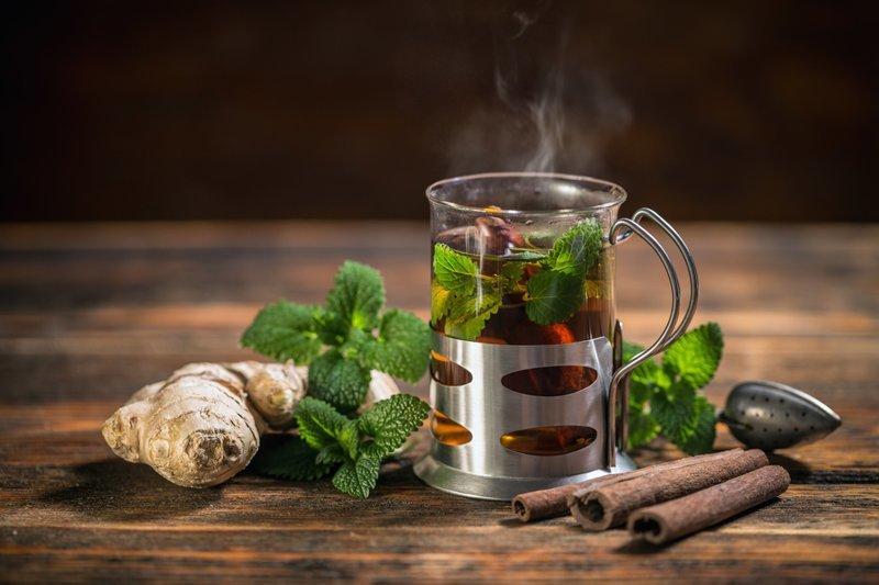 Мята вред, здоровые, лекарственные травы, травяной чай, чаепитие
