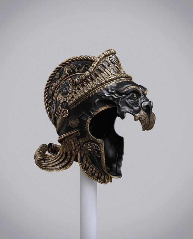 8. Шлем Кэрола V Габсбургского, созданный Филиппо Негроли. Милан, 16 век интересное, история, находки, уникальность