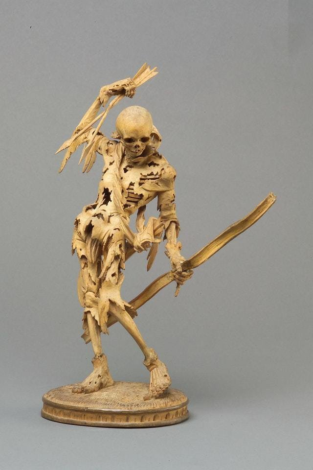 14. Статуэтка Смерти с луком. Германия, 1520 год интересное, история, находки, уникальность