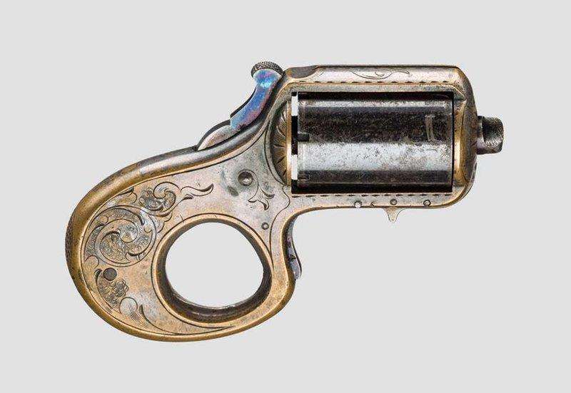 20. «Мой друг» — револьвер-кастет 22 калибра, запатентованный в 1865 году, США интересное, история, находки, уникальность