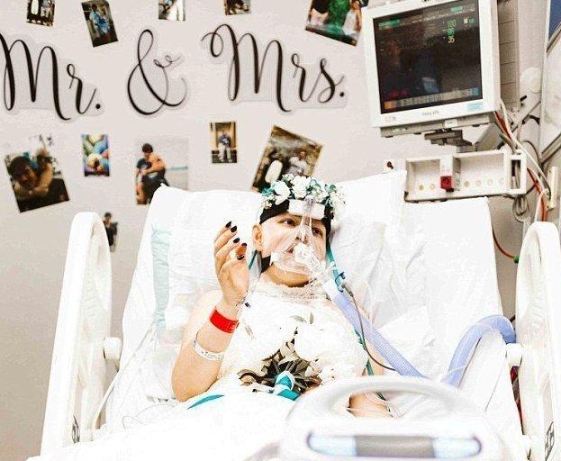 19-летняя невеста вышла замуж за любимого за три дня до смерти