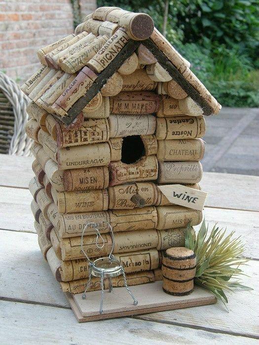 Вот такой домик для птичек венки, винные пробки, декор, из пробок, пробки, сделай сам, ёлка
