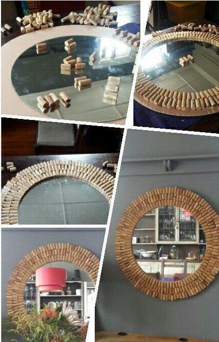 а можно сотворить красивое зеркало венки, винные пробки, декор, из пробок, пробки, сделай сам, ёлка