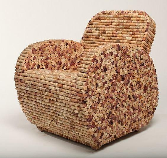 Или даже сделать целое кресло венки, винные пробки, декор, из пробок, пробки, сделай сам, ёлка