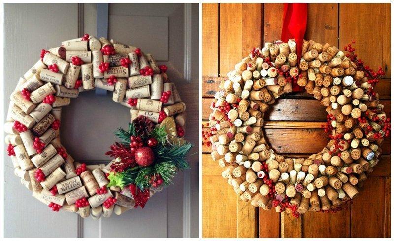 Идеи к Новому году: венки венки, винные пробки, декор, из пробок, пробки, сделай сам, ёлка