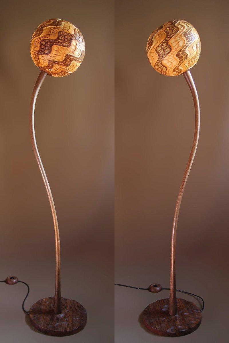 Уникальная лампа из высушенной африканской тыквы своими руками Самоделка своими руками, красота, лампа, мастер, самоделка, своими руками, сделай сам, сделай сам.