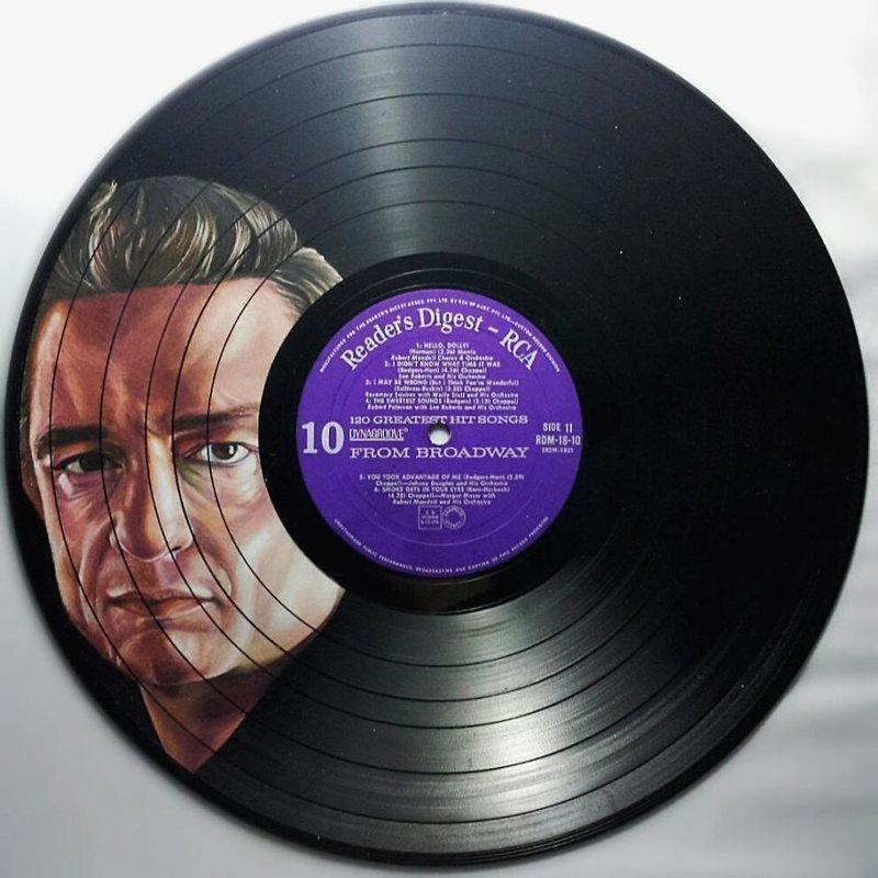7. Джонни Кэш виниловые пластинки, знаменитости, искусство, креатив, портреты, рисунки, творчество, художник
