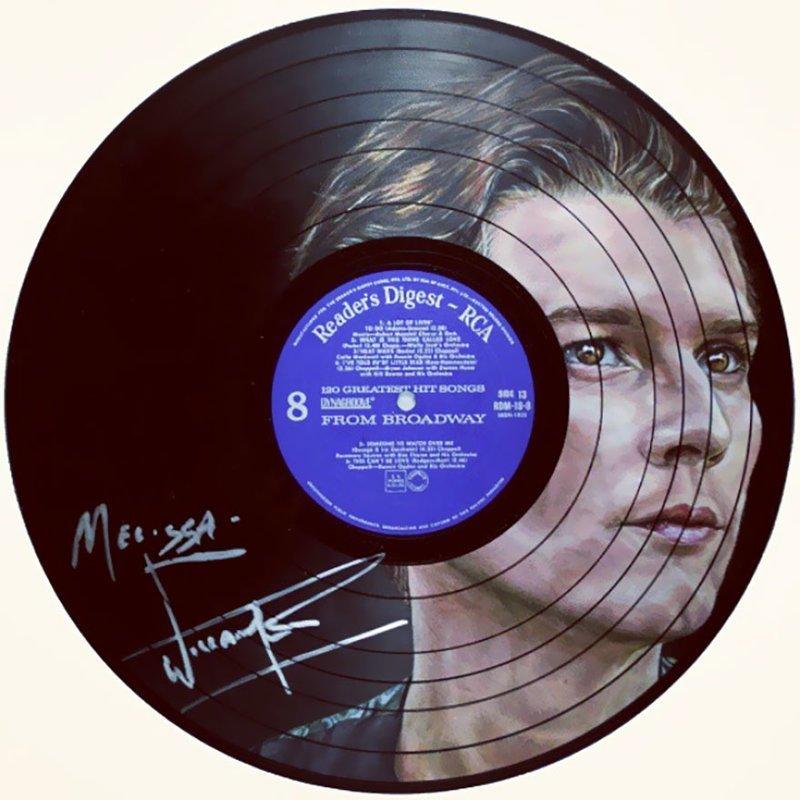 16. Уильям Бекетт виниловые пластинки, знаменитости, искусство, креатив, портреты, рисунки, творчество, художник