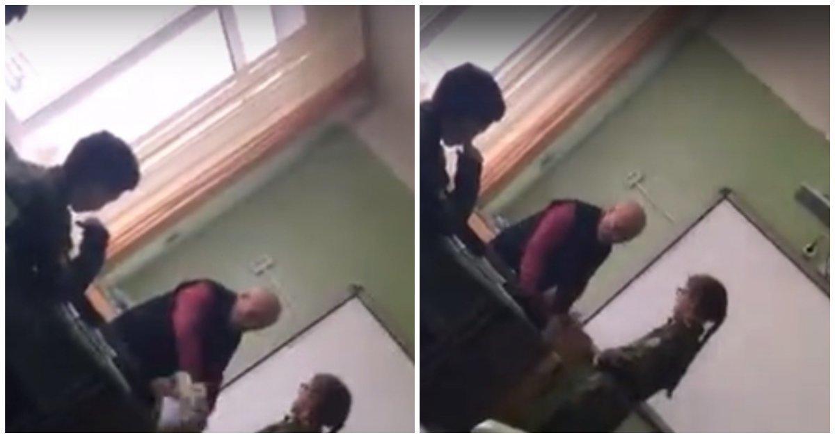Учитель сорвался на ученика