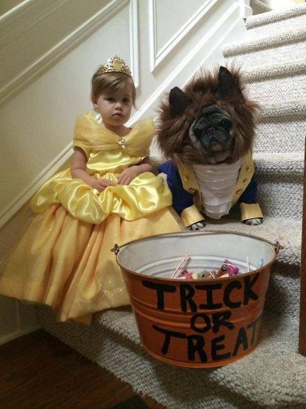 7. Красавица и ее маленькое Чудовище Хэллоуин дети, Хэллоуин костюм, Хэллоуин. костюм, маскарадные костюмы, маскарадный костюм, наряд на хеллоуин, праздник, хэллоуин