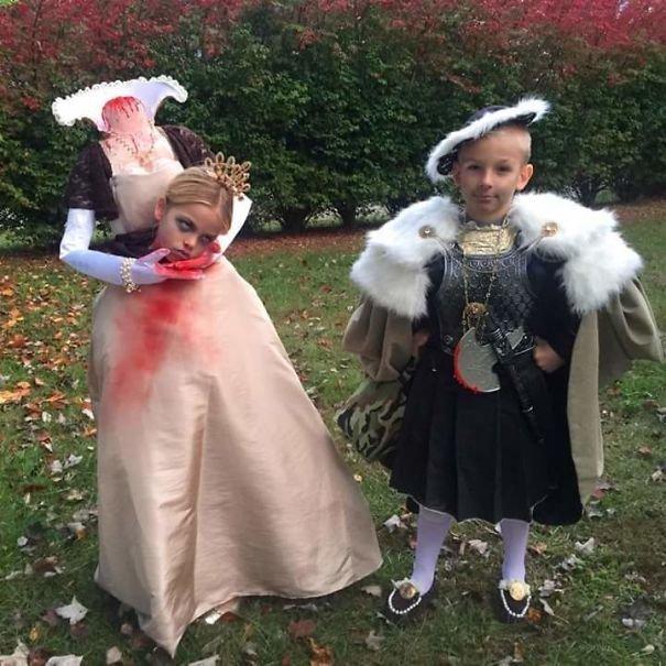 3. Генрих VIII и Анна Болейн Хэллоуин дети, Хэллоуин костюм, Хэллоуин. костюм, маскарадные костюмы, маскарадный костюм, наряд на хеллоуин, праздник, хэллоуин